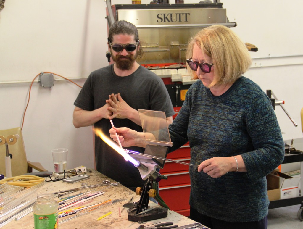 Trying my hand at glassblowing at The Glass Park