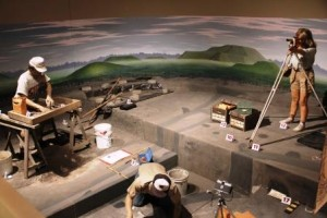 Archeology diorama