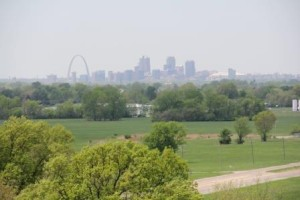 View of St Louis from Monks Mound