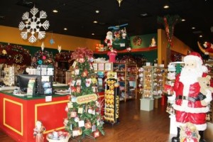 Christmas Store interior