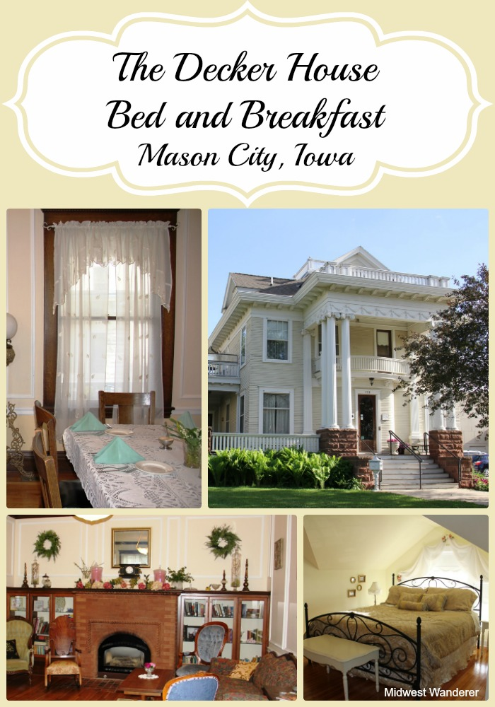 Decker House Bed and Breakfast Mason City Iowa