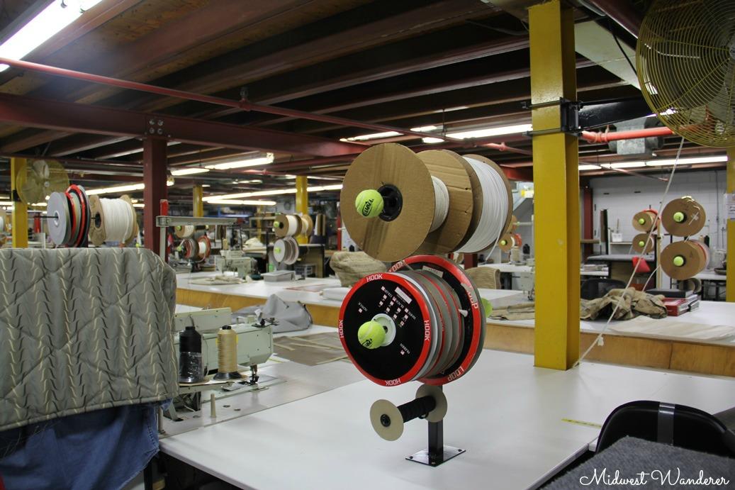 Cording spools - Winnebago Factory