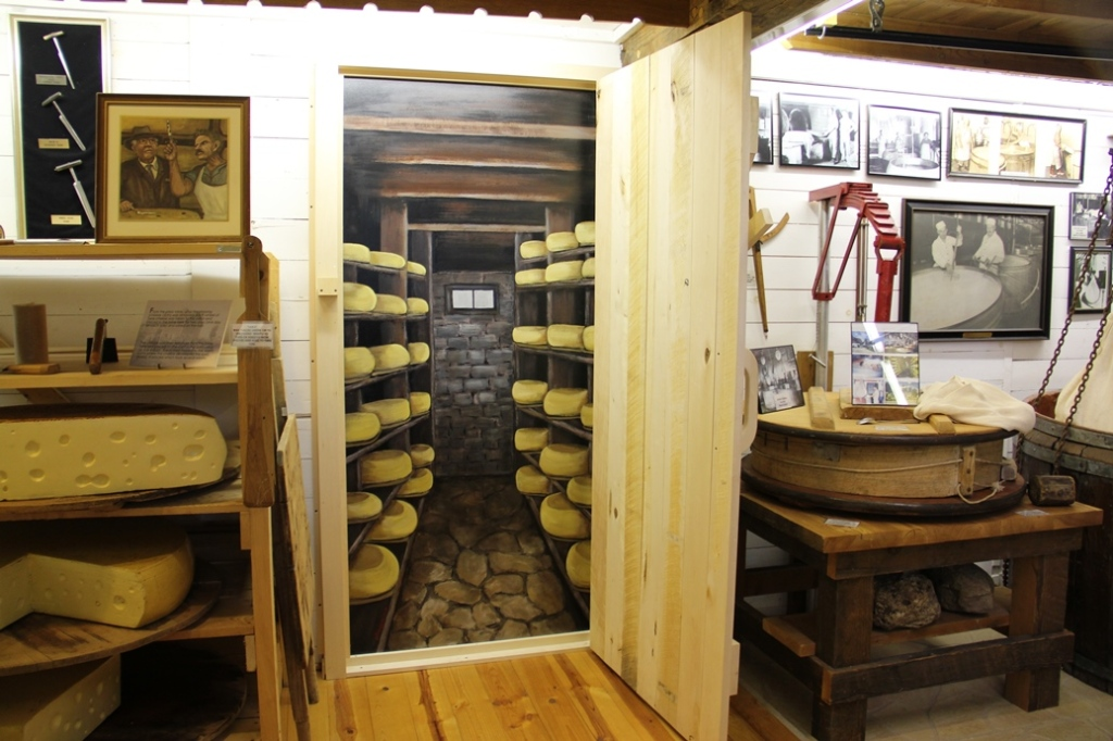 Cheese cellar at the National Historic Cheesemaking Center in Monroe Wisconsin