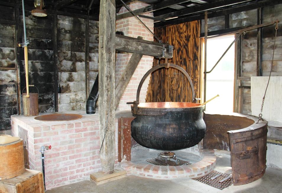 Cheese factory interior - National Historic Cheesemaking Center