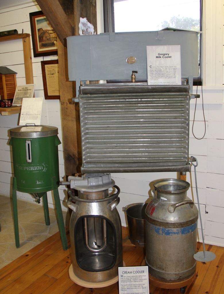 Gregory Milk Cooler at the National Historic Cheesemaking Center in Monroe Wisconsin