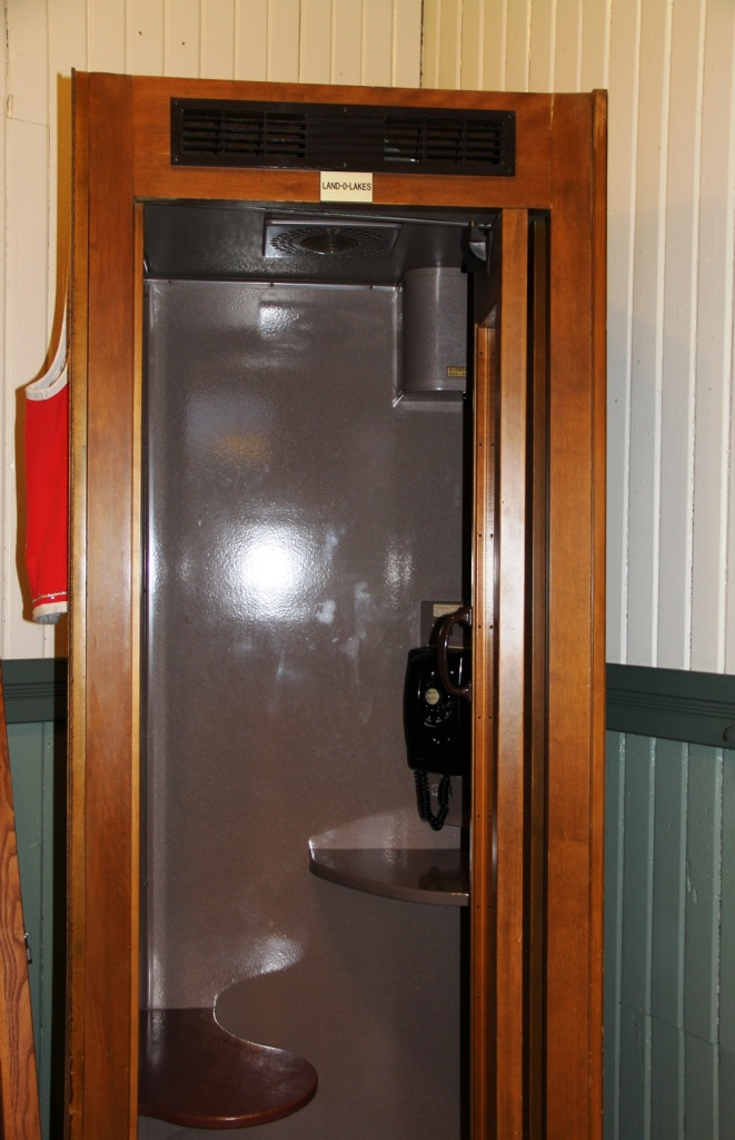 Phone booth used at the National Cheese Exchange