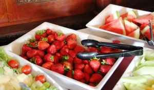 Strawberries on Tippecanoe Place Sunday brunch buffet