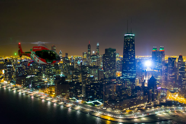 Chicago Helicopter Experience holiday lights