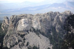 Mount Rushmore from Helicopter