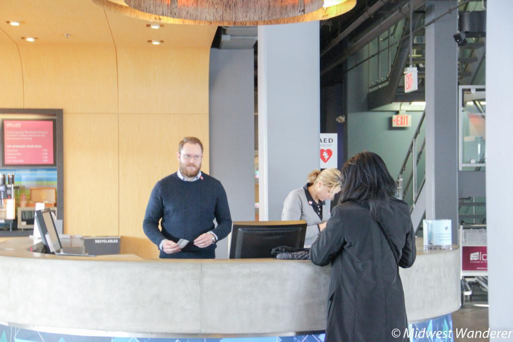 Lobby desk at Aloft Chicago OHare