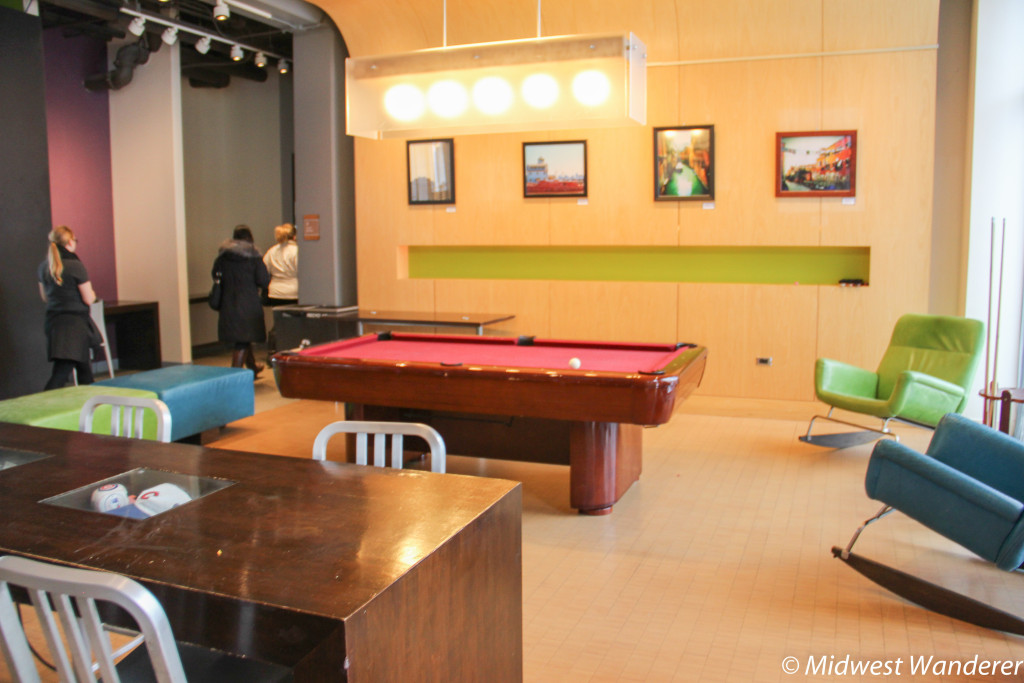 Pool table at Aloft Chicago OHare