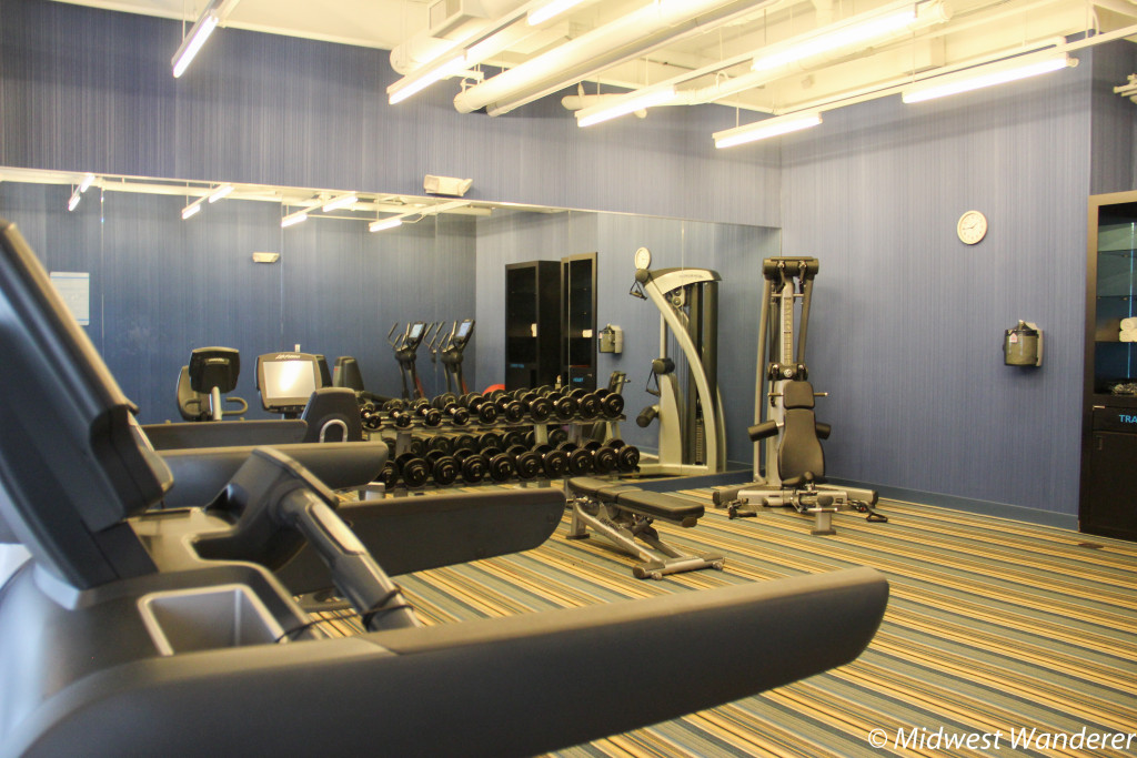 Fitness room at Aloft Chicago OHare is called Recharge
