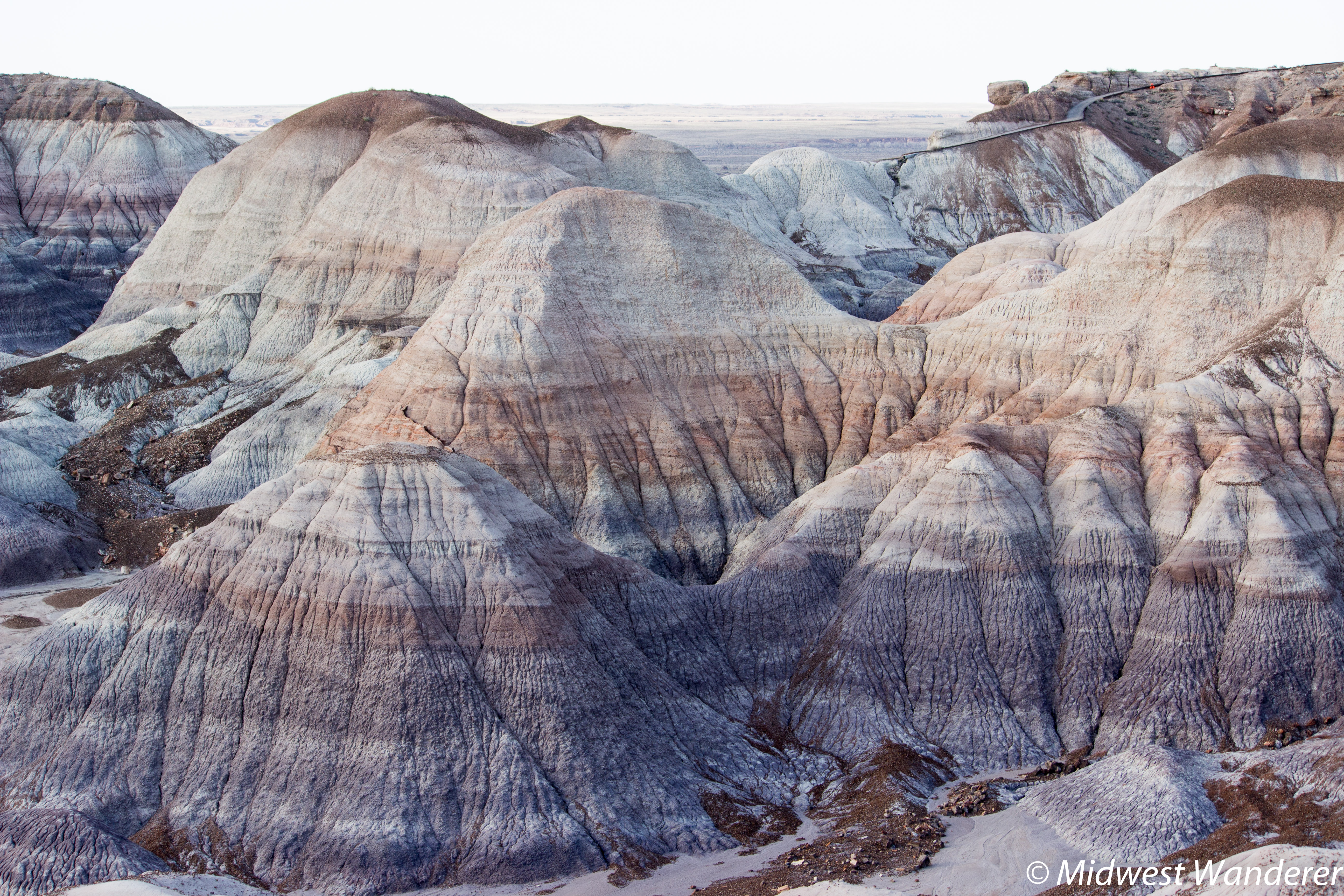 Driving through Petrified Forest National Park