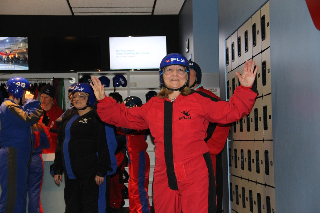 All suited up at iFLY Chicago