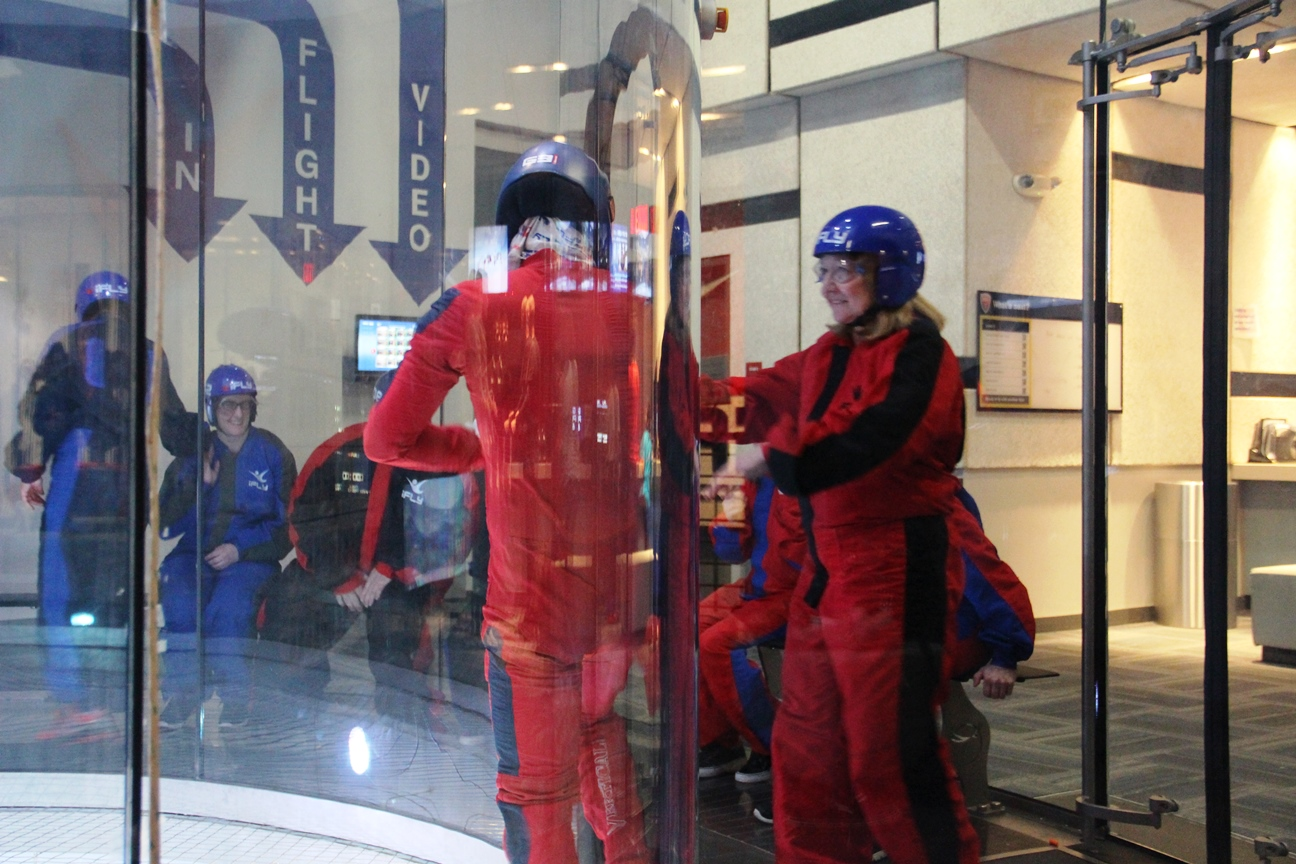 Entering the wind tunnel