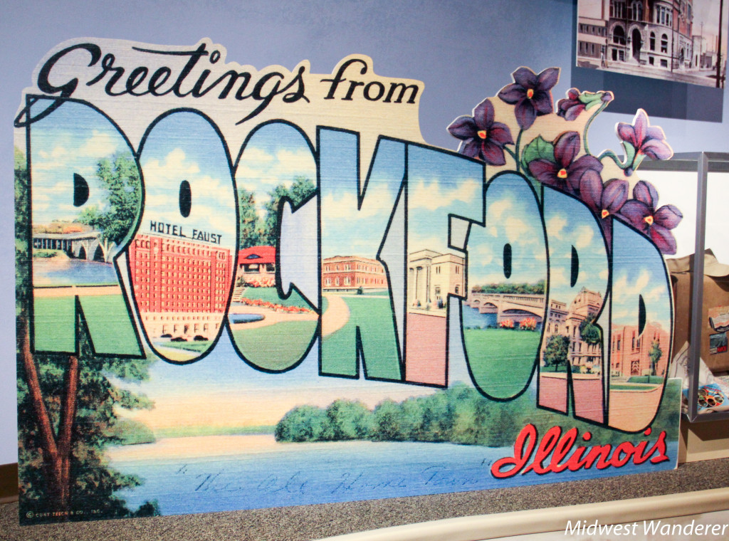 Rockford postcard sign