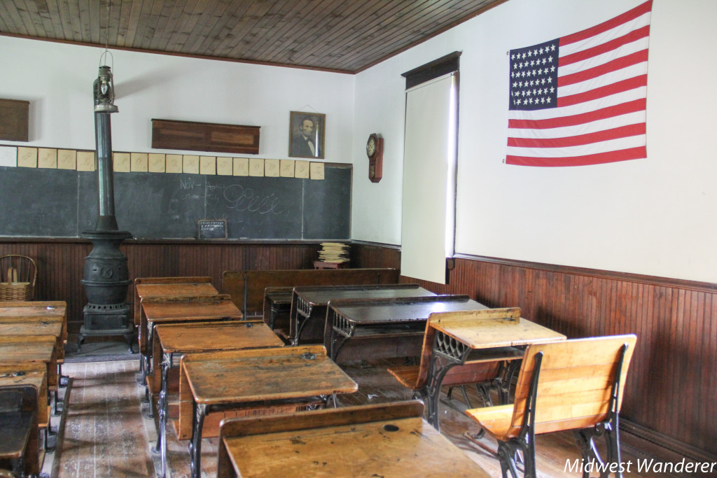 Midway Vilalge Museum one room schoolhouse