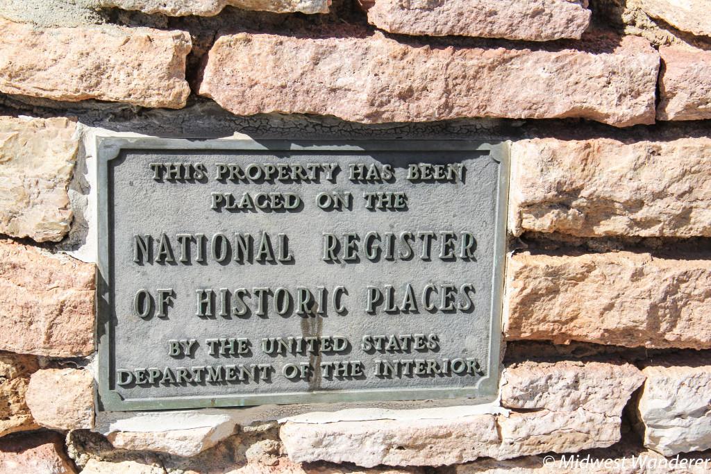 National Regiser of Historic Places sign