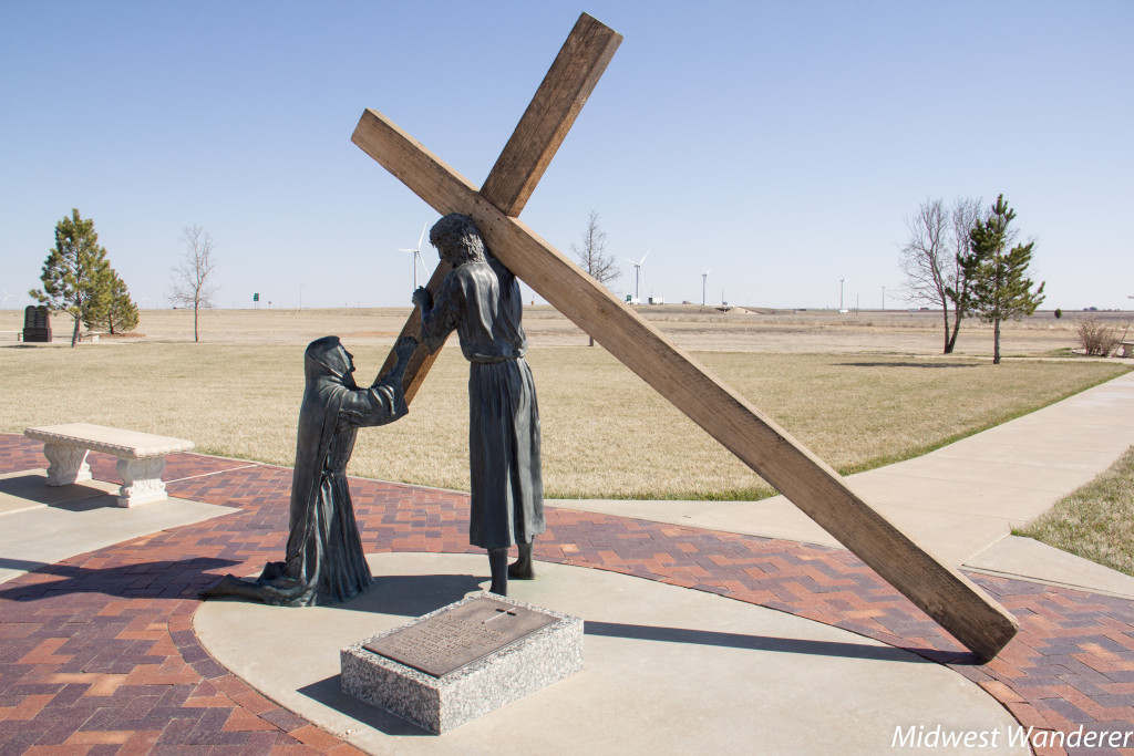 One of the Stations of the Cross at Cross of our Lord Jesus Christ, Groom Texas