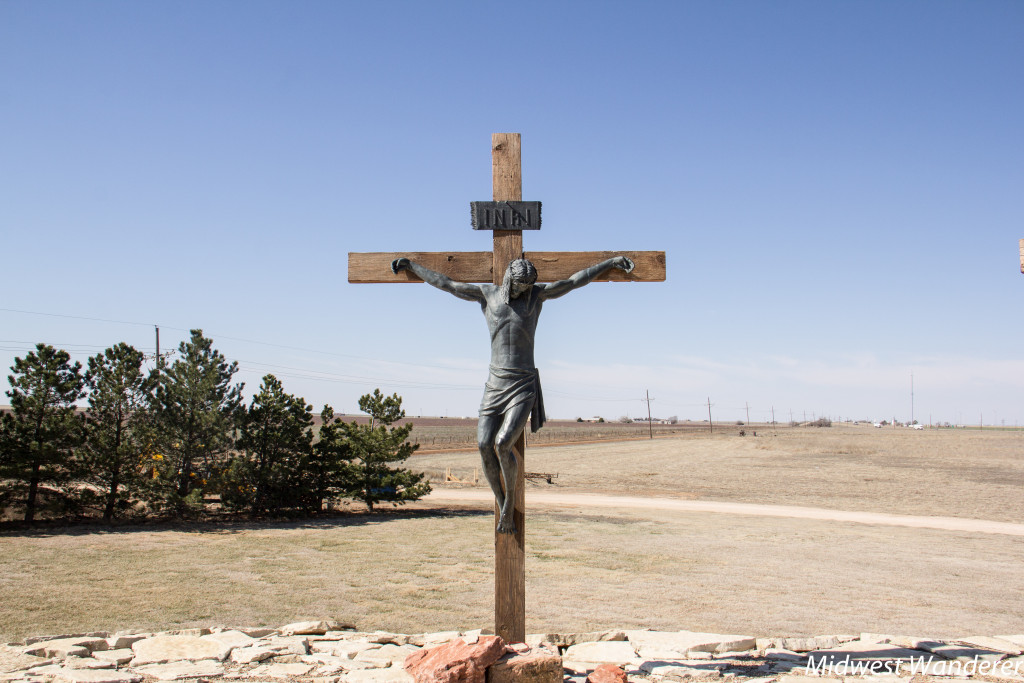 Jesus on the cross at Cross of our Lord Jesus Christ, Groom Texas