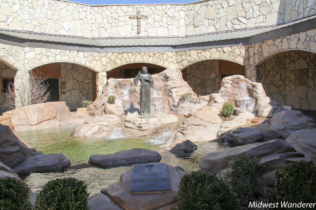 Divine Mercy Fountain at Cross of our Lord Jesus Christ, Groom Texas