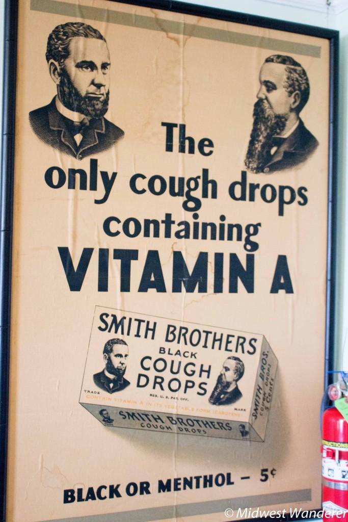Smith Bros cough drop poster
