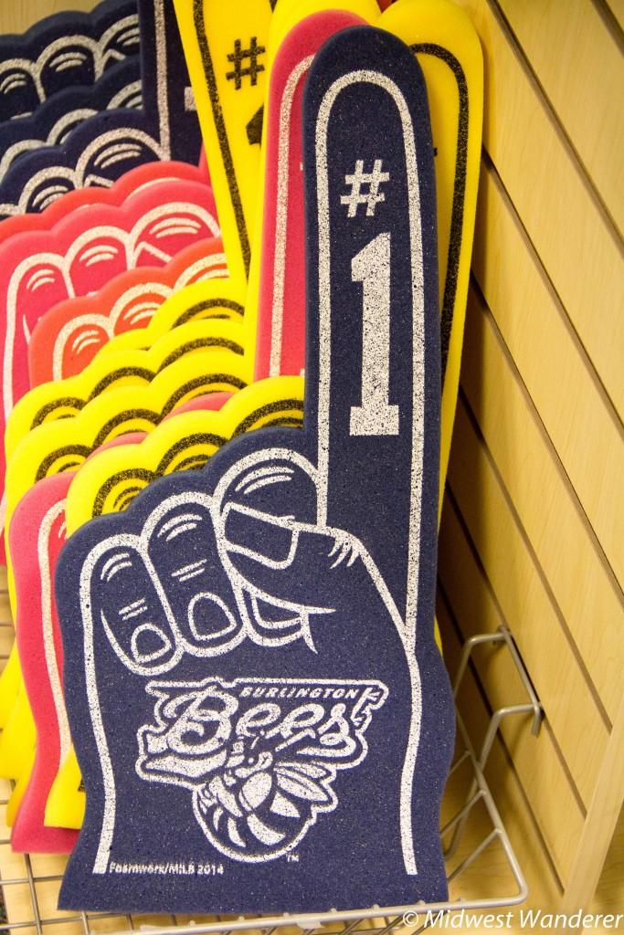 Number 1 foam fingers