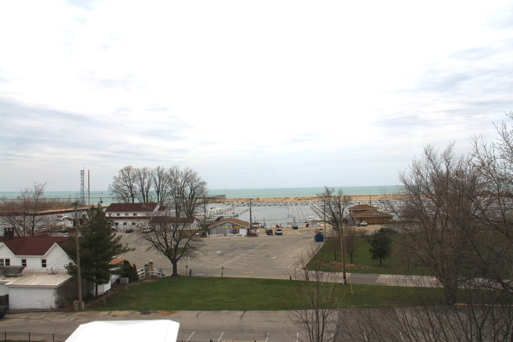 Lake Michigan viewed from lighthouse tower
