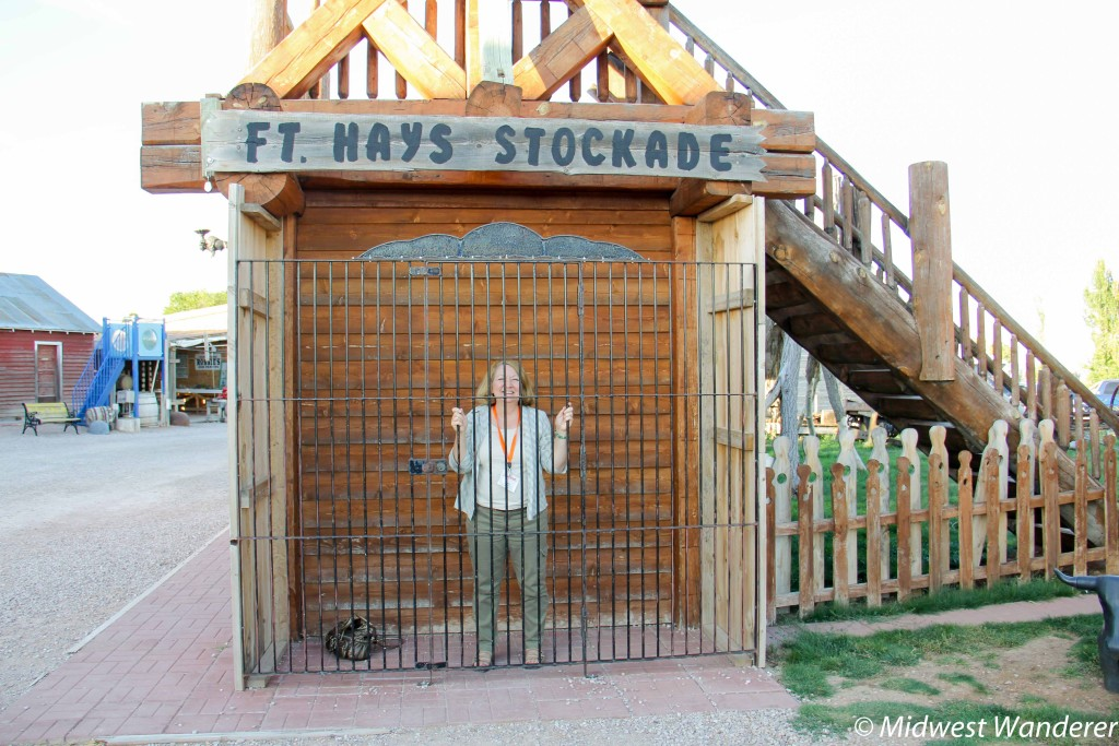 Stockade at the Fort Hays Wild West town