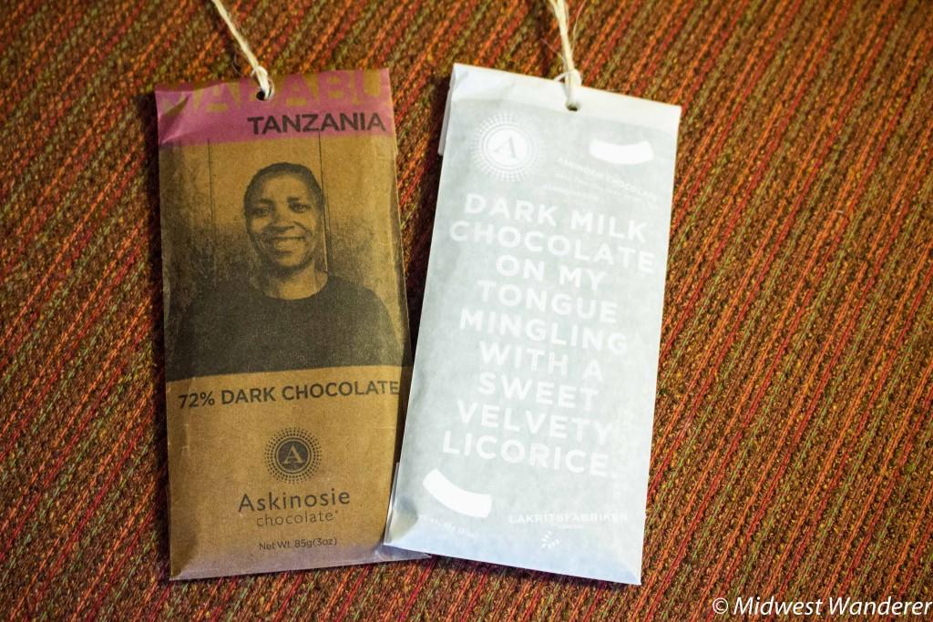 Tanzania Chocolate and Chocolate with Licorice