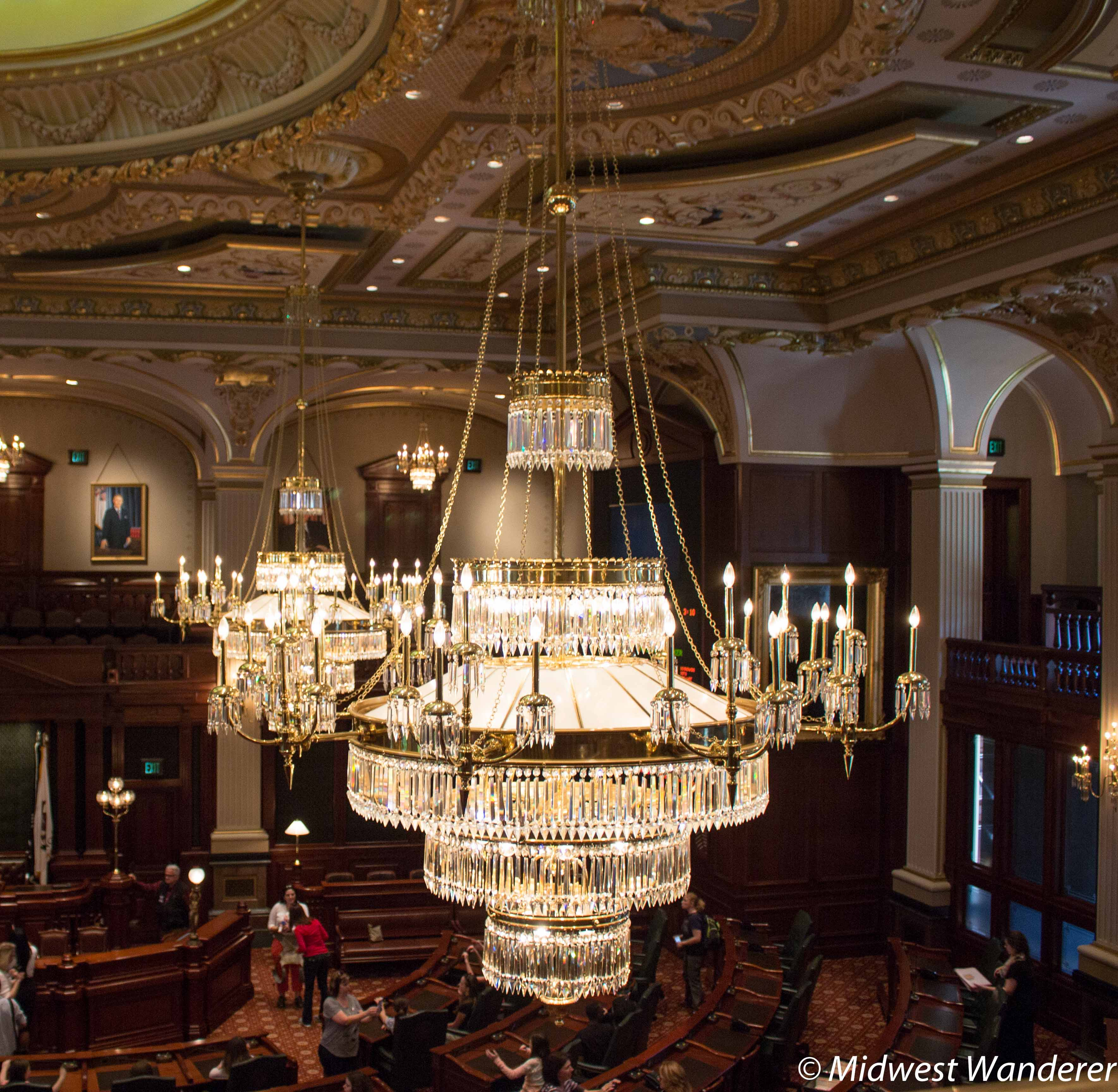 Illinois state capitol take the tour midwest wanderer chandelier aloadofball Image collections