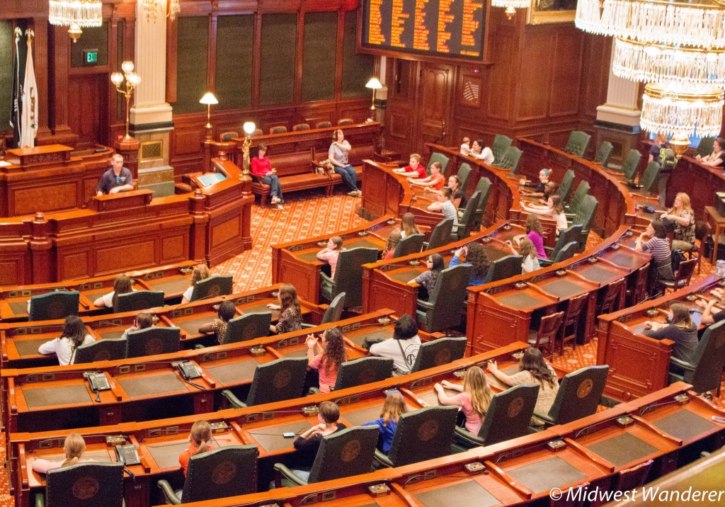 Illinois State Capitol House chambers