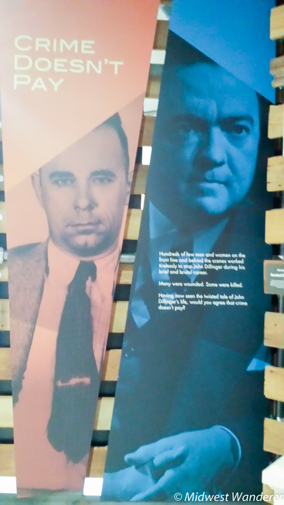 John Dillinger Museum display