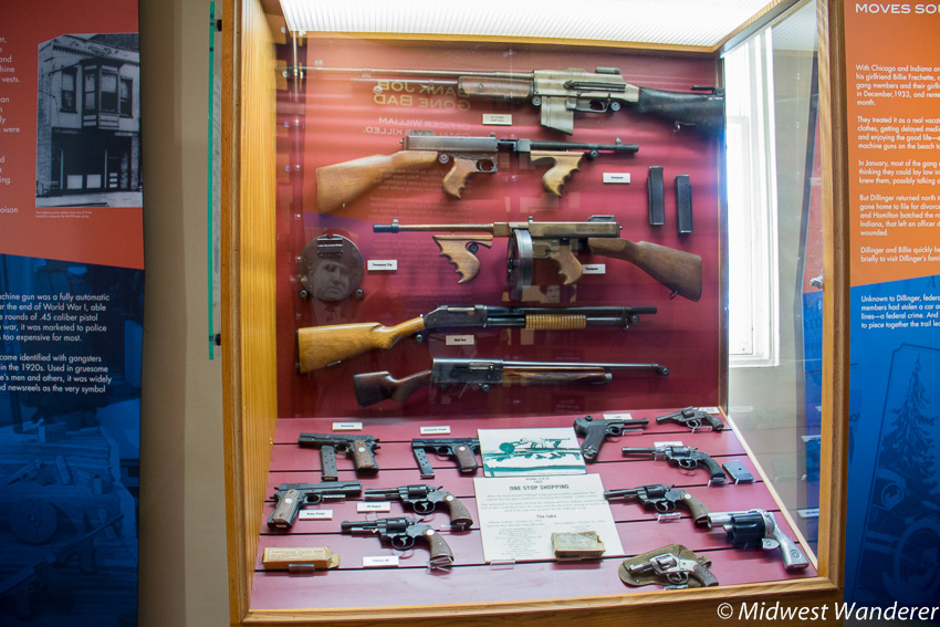 Firearms like those in the Dillinger Gang arsenal