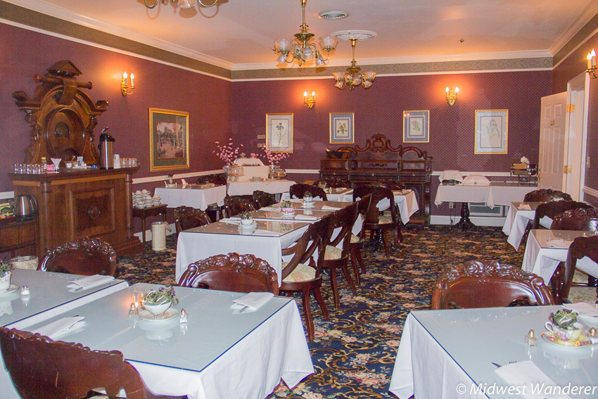 Kingsley Inn breakfast room - Fort Madison Iowa