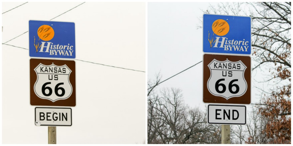 Kansas Route 66 signs