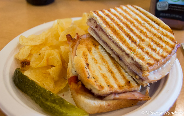 turkey-bacon panini