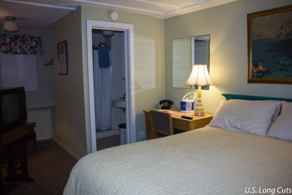 Blue Swallow Motel room