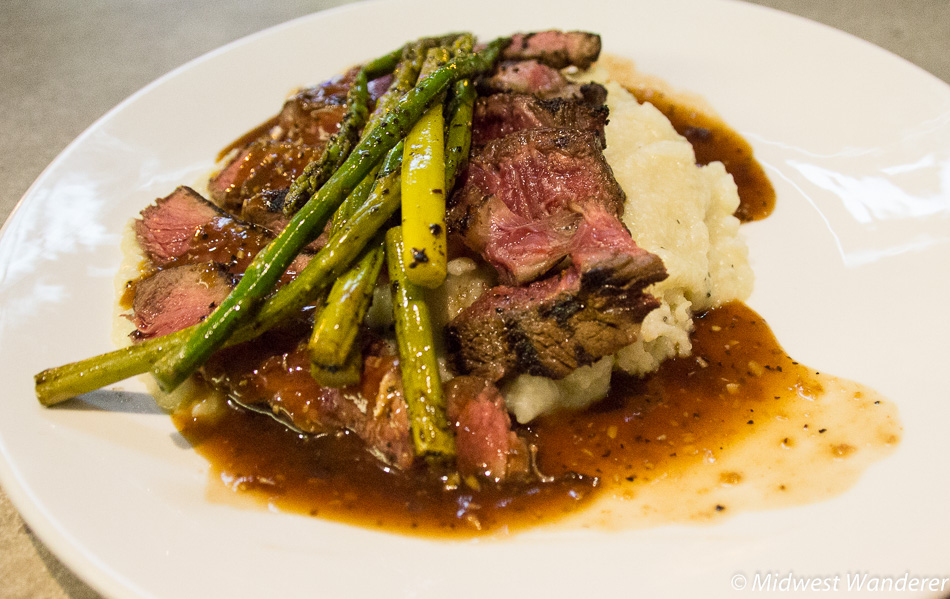 Beef dinner at The Order