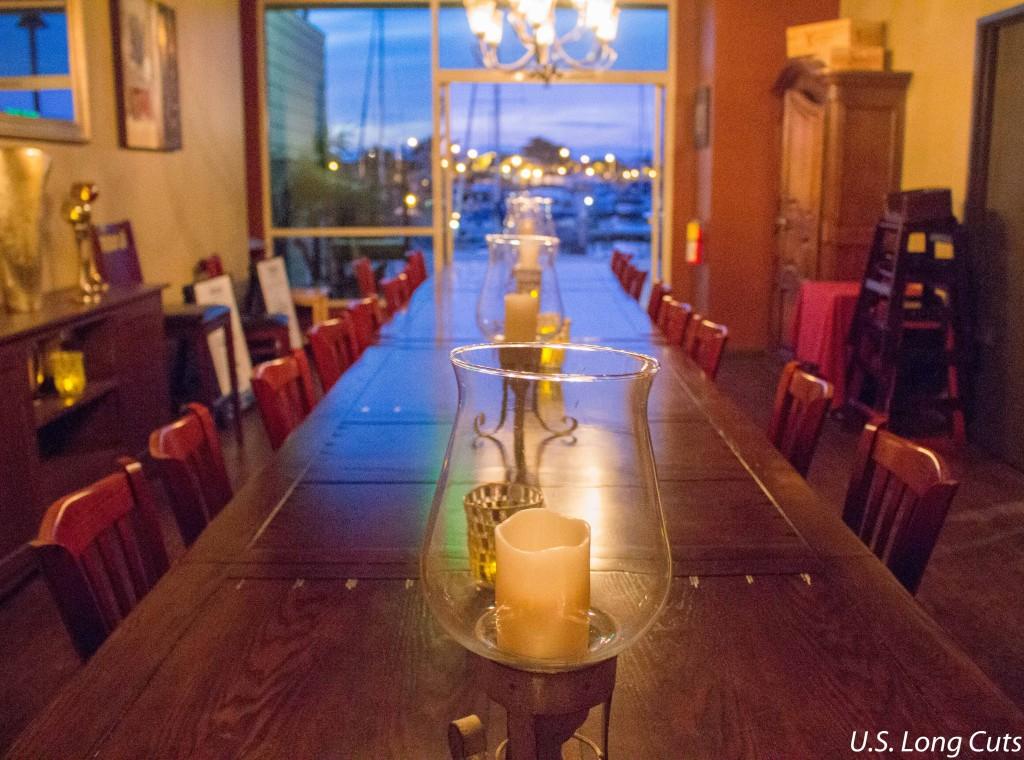 Waterside Restaurant communal table