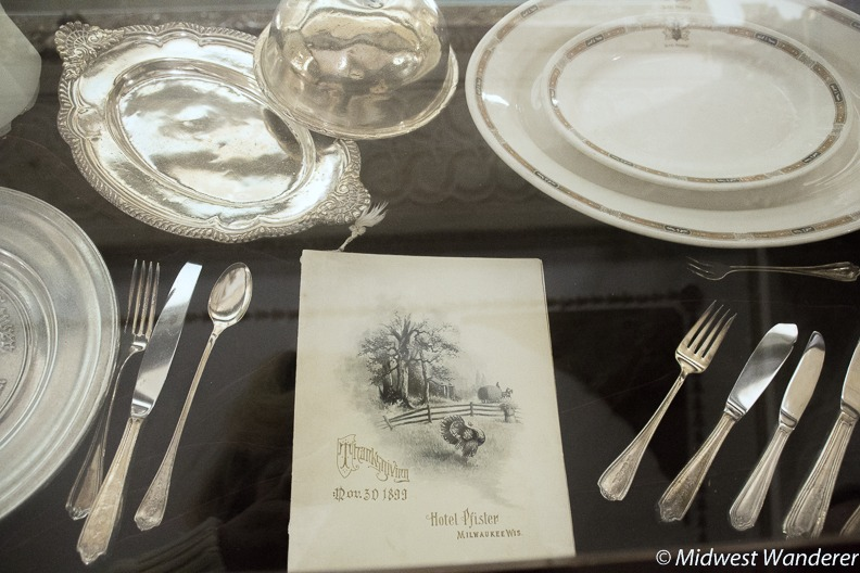Pfister Hotel 1899 menu