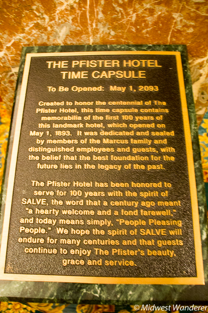 Pfister Hotel time capsule