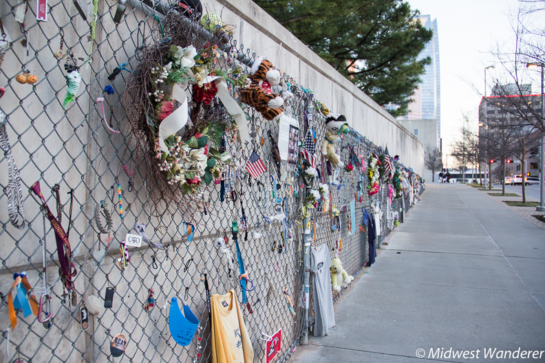 Oklahoma City National Memorial fence