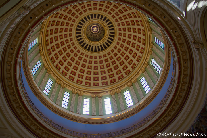 Inside the Oklahoma State Capitol dome