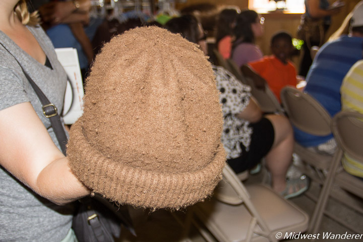 Hat made from bison