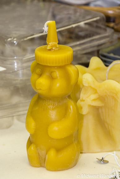 honey bear candle