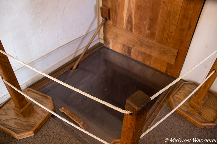 Entrance to the cellar in the John Ray house