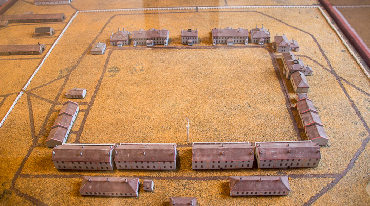Model of Fort Totten State Historic Site