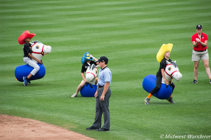 Kid Fun at a TinCaps Minor League Baseball Game