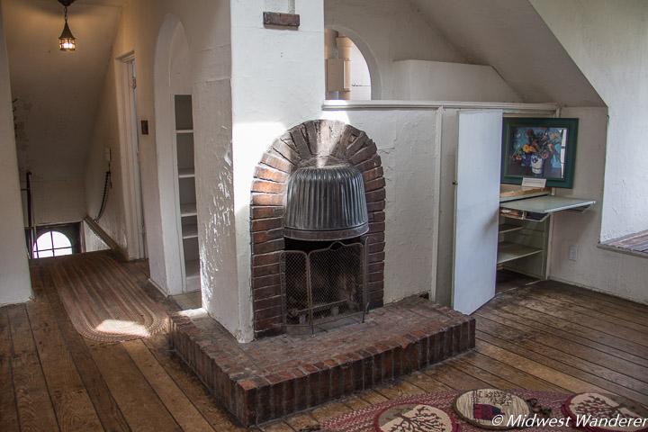 Grant Wood Studio fireplace